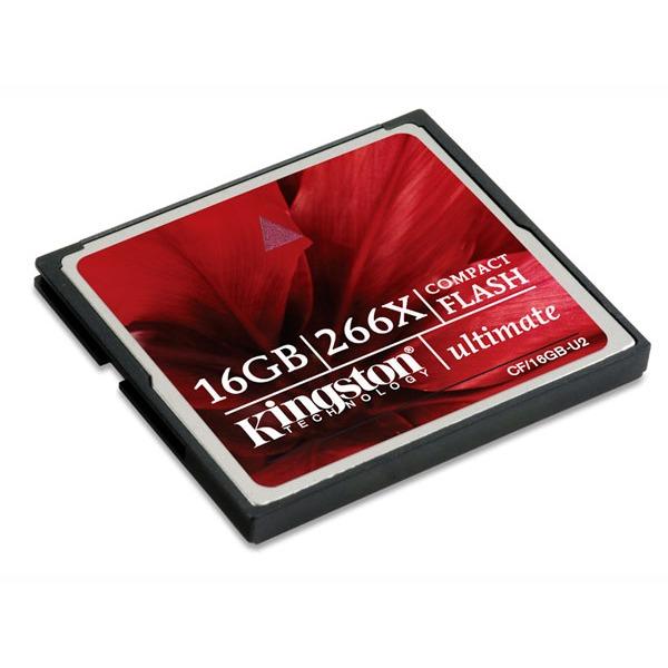 Carte mémoire Kingston CompactFlash 16 Go Ultimate 266X Carte mémoire CompactFlash 16 Go Ultimate 266X (garantie 10 ans par Kingston)