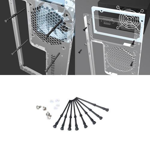 Vis Akasa AK-MX002 Kit de visserie anti-bruit caoutchouc (pour alimentation et ventilateur de boîtier)