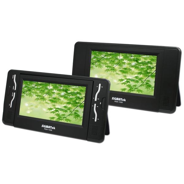 sigmatek pdx 1430 lecteur dvd portable avec double ecran. Black Bedroom Furniture Sets. Home Design Ideas