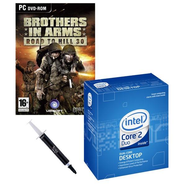 Processeur Intel Core 2 Duo E8400 - Dual Core ! (version boîte - garantie Intel 3 ans) + Pâte thermique Tuniq TX-2 + Jeu Brothers in Arms - OEM (PC) Intel Core 2 Duo E8400 - Dual Core ! (version boîte) + Pâte thermique Tuniq TX-2 + Jeu Brothers in Arms - OEM (PC)