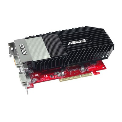 Carte graphique ASUS AH3650 SILENT/HTDI/512M ASUS AH3650 SILENT/HTDI/512M - 512 Mo TV-Out/Dual DVI - AGP (ATI Radeon HD 3650)