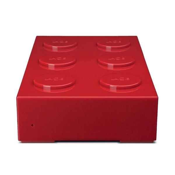 Lacie Brick Desktop Hard Drive 1 To Rouge Disque Dur