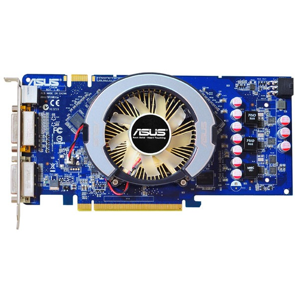 Carte graphique ASUS EN9600GT MG-HTDP-512MD2 ASUS EN9600GT MG-HTDP-512MD2 - 512 Mo TV-Out/Dual DVI - PCI Express (NVIDIA GeForce avec CUDA 9600 GT)