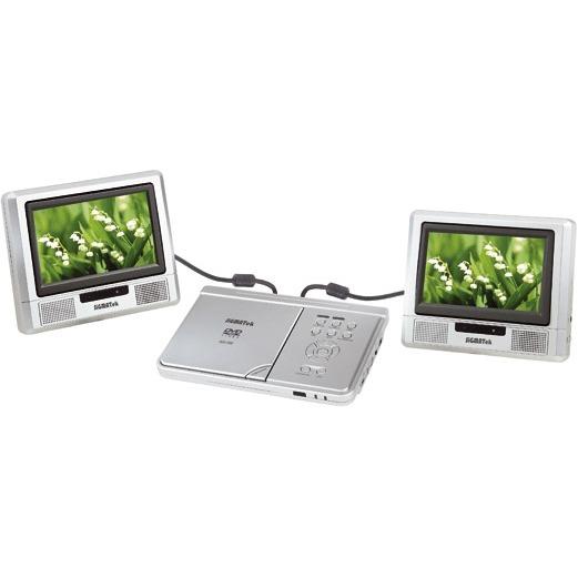 sigmatek pdx 1300 lecteur dvd portable double cran 7 coloris argent sigmatek. Black Bedroom Furniture Sets. Home Design Ideas