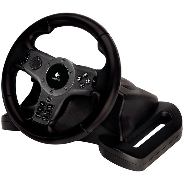 logitech driving force wireless volant pc logitech sur. Black Bedroom Furniture Sets. Home Design Ideas