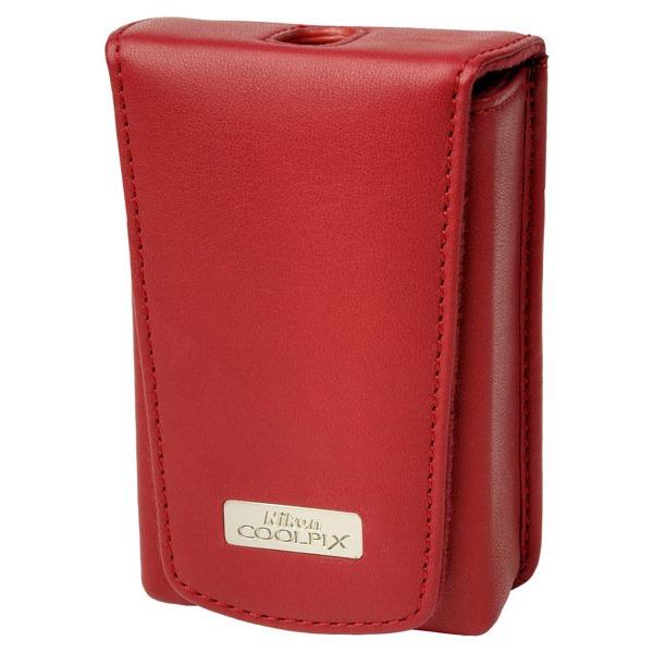Sac & étui photo Nikon CS-S04 Etui cuir rouge (pour Coolpix S210/S560/S610/S710)