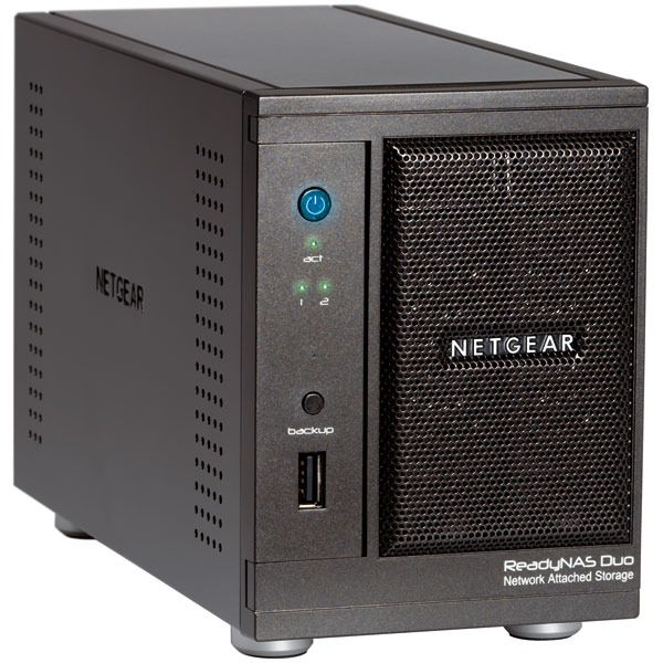 Serveur NAS Netgear ReadyNAS Duo Home Media Server 2 baies (sans disque dur)