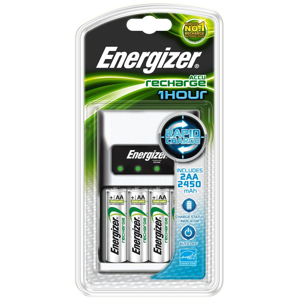 energizer chargeur 1 heure 2 piles rechargeables ni mh aa 2450 mah pile chargeur energizer. Black Bedroom Furniture Sets. Home Design Ideas