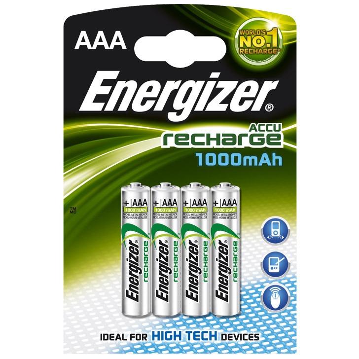 energizer 4 piles aaa rechargeables 1000 mah pile chargeur energizer sur. Black Bedroom Furniture Sets. Home Design Ideas