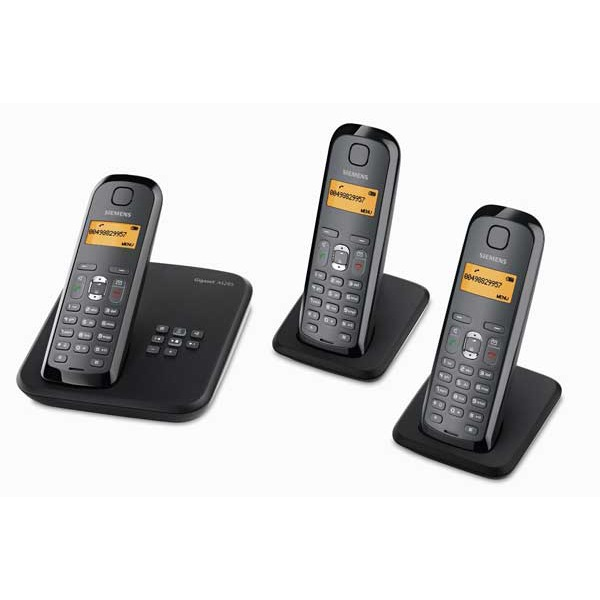 Siemens gigaset as285 trio t l phone sans fil dect avec - Telephone filaire avec repondeur integre ...
