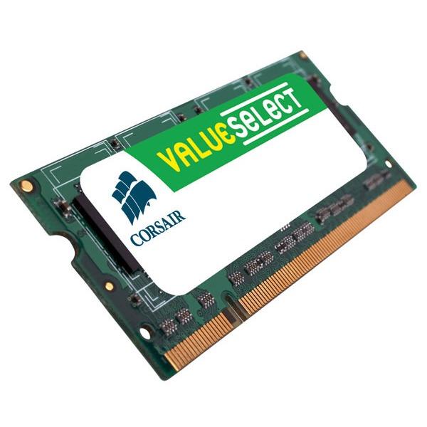 Mémoire PC portable Corsair Value Select SO-DIMM 4 Go DDR2 800 MHz RAM SO-DIMM 4 Go DDR2-SDRAM PC6400 - VS4GSDS800D2 (garantie 10 ans par Corsair)