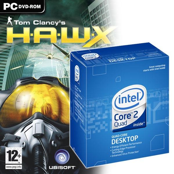 Processeur Intel Core 2 Quad Q9300 + HAWX Offert ! Intel Core 2 Quad Q9300 - Quad Core ! Socket 775 FSB1333 cache L2 6 Mo 0.045 micron (version boîte - garantie Intel 3 ans) + Jeu HAWX (OEM) Offert !