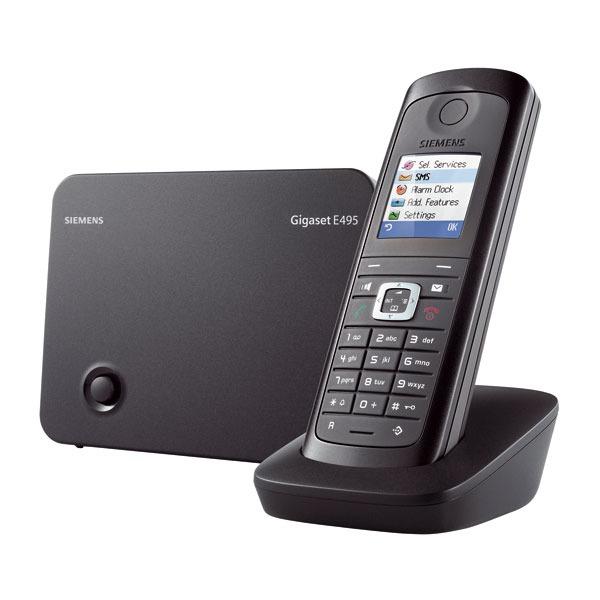 Gigaset e495 noir t l phone sans fil gigaset sur - Telephone filaire avec repondeur integre ...