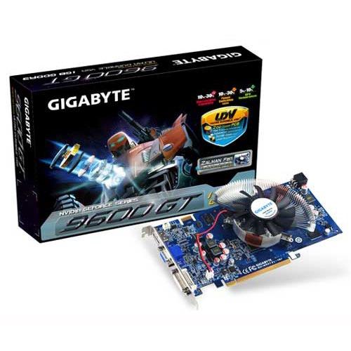 Carte graphique Gigabyte GV-N96TZL-1GI Gigabyte GV-N96TZL-1GI - 1 Go HDMI/DVI - PCI Express (NVIDIA GeForce 9600 GT)