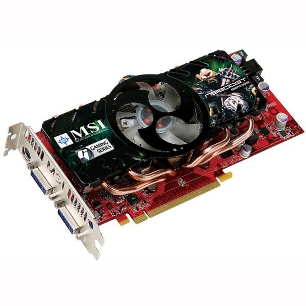Carte graphique MSI N9800GT-T2D1G-OC MSI N9800GT-T2D1G-OC - 1 Go TV-Out/Dual DVI - PCI Express (NVIDIA GeForce avec CUDA 9800 GT)