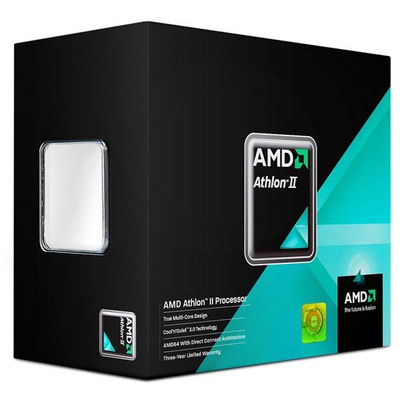 Processeur AMD Athlon II X2 250 AMD Athlon II X2 250 - Dual Core Socket AM3 0.045 micron Cache L2 2 Mo (version boîte - garantie constructeur 3 ans)