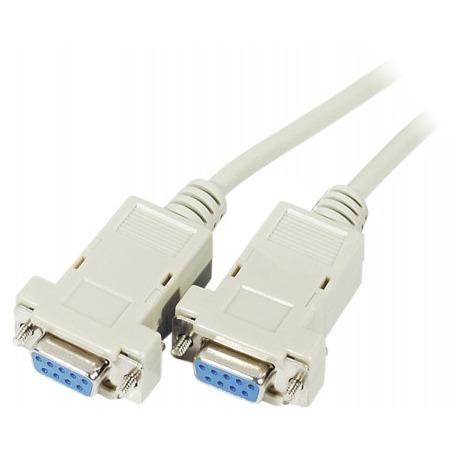 Série Câble DB9 Null Modem femelle / femelle (1.8 mètre) Cordon Série femelle / femelle