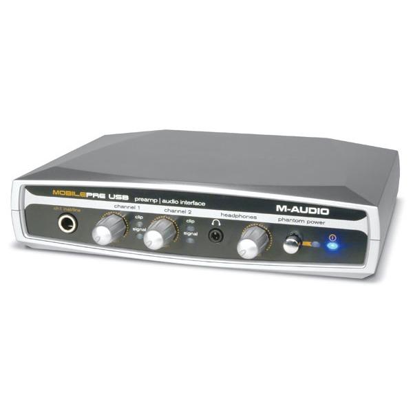 Interface Audio M-Audio MobilePre USB M-Audio MobilePre USB - Interface audio / préamplificateur alimenté via bus USB