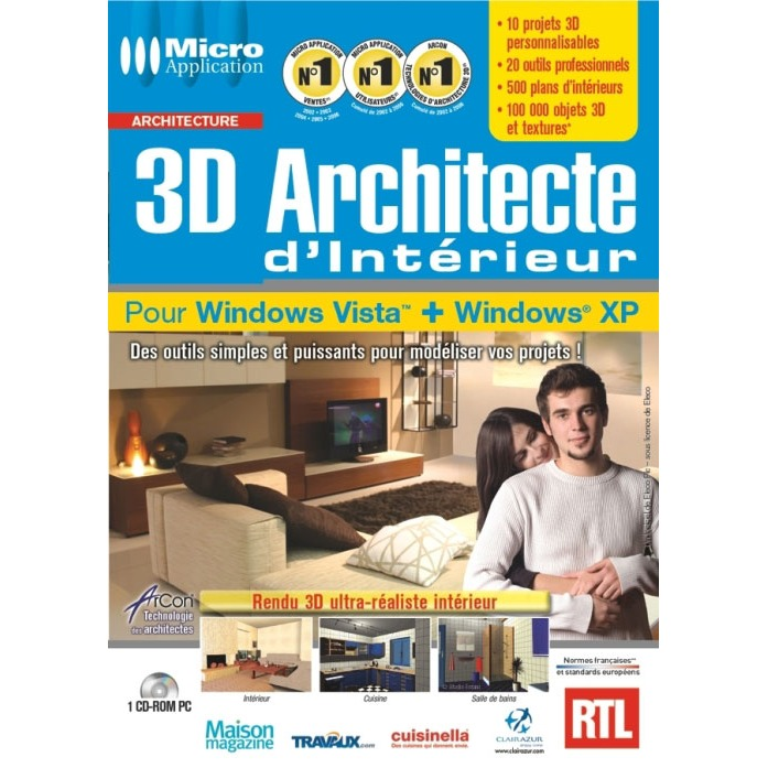Micro application 3d architecte d 39 int rieur for 3d architecte micro application