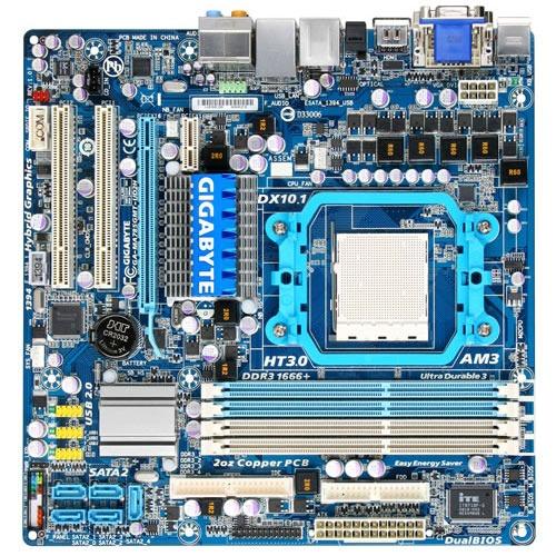 Carte mère Gigabyte GA-MA785GMT-UD2H Gigabyte GA-MA785GMT-UD2H (AMD 785G) - Micro ATX