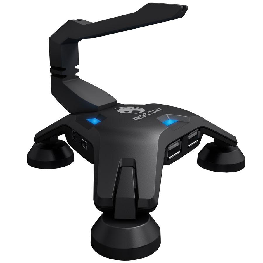 Autres accessoires jeu ROCCAT Apuri Organisateur de câble pour gamer avec hub à 4 ports USB 2.0 intégré