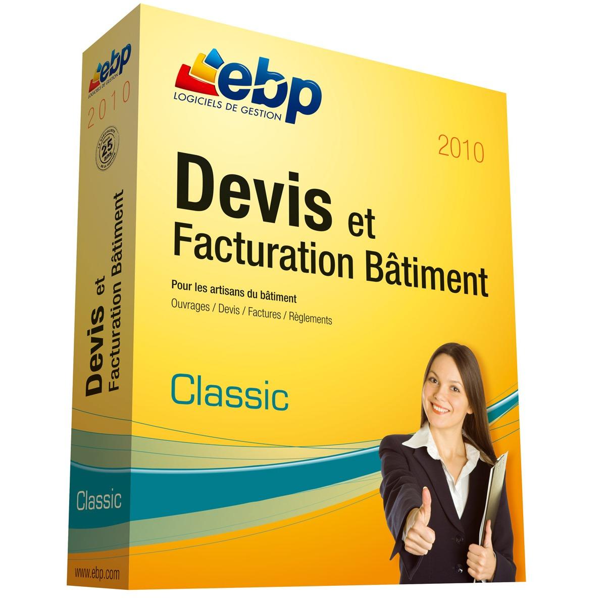 ebp devis et facturation btiment classic 2010