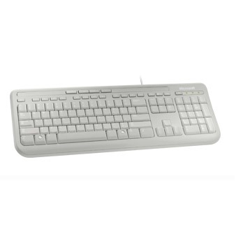 Clavier PC Microsoft Wired Keyboard 600 Microsoft Wired Keyboard 600 - Blanc (AZERTY, Français)