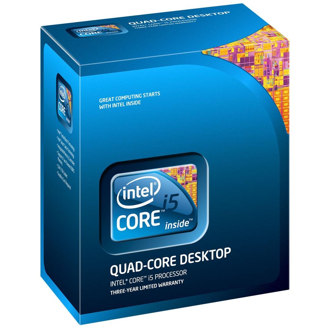 Processeur Intel Core i5 750 Intel Core i5 750 - Quad Core Socket 1156 DMI 2.5 GT/s Cache L3 8 Mo 0.045 micron (version boîte - garantie Intel 3 ans)