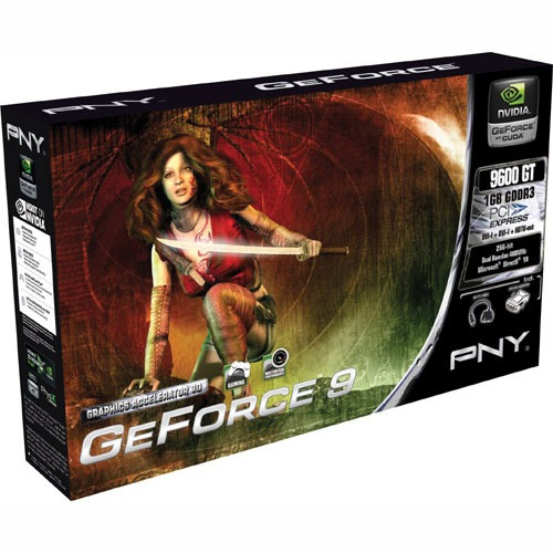 Carte graphique PNY GeForce 9600 GT 1 GB PNY GeForce 9600 GT - 1 Go TV-Out/Dual DVI - PCI Express (NVIDIA GeForce avec CUDA 9600 GT)
