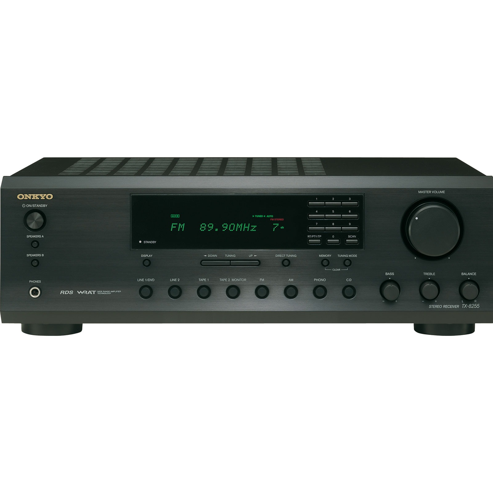 Amplificateur Hifi Onkyo TX-8255 Noir Onkyo TX-8255 - Amplificateur-Tuner stéréo 2 x 90 W (coloris noir)