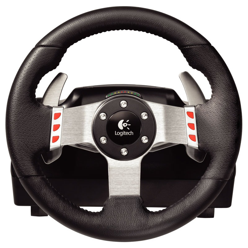 logitech g27 racing wheel volant pc logitech sur. Black Bedroom Furniture Sets. Home Design Ideas