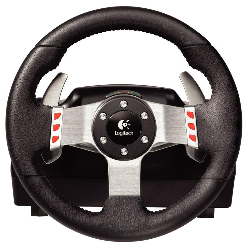 logitech g27 racing wheel volant pc logitech sur. Black Bedroom Furniture Sets. Home Design Ideas