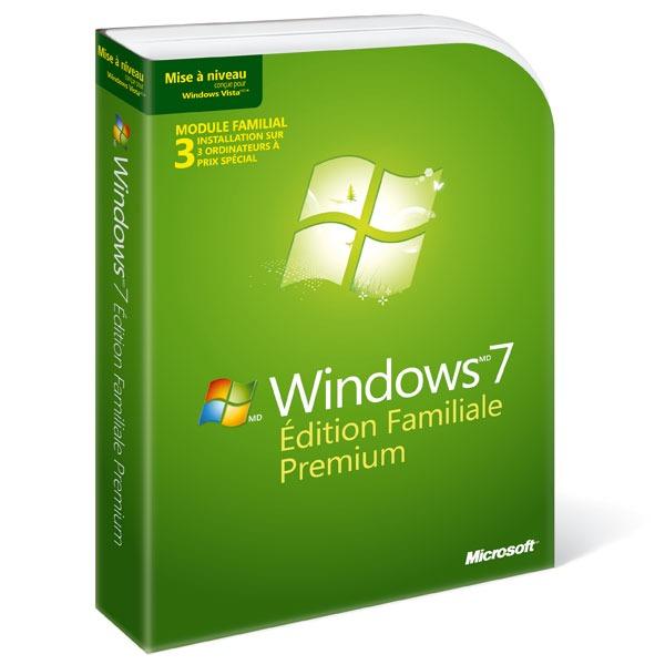 Windows Microsoft Windows 7 Édition Familiale Premium - Mise à jour - Prix spécial 3 licences Microsoft Windows 7 Édition Familiale Premium - Mise à jour  - Prix spécial 3 licences (français)