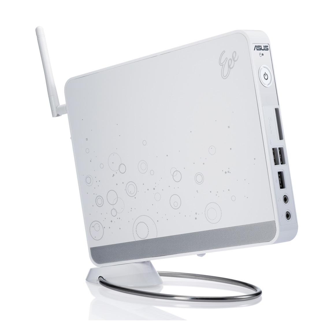 PC de bureau ASUS EeeBox PC EB1012 Blanc ASUS EeeBox PC EB1012 - Intel Atom Dual Core 330 2 Go 250 Go NVIDIA ION Wi-Fi N Windows 7 Premium (coloris blanc)