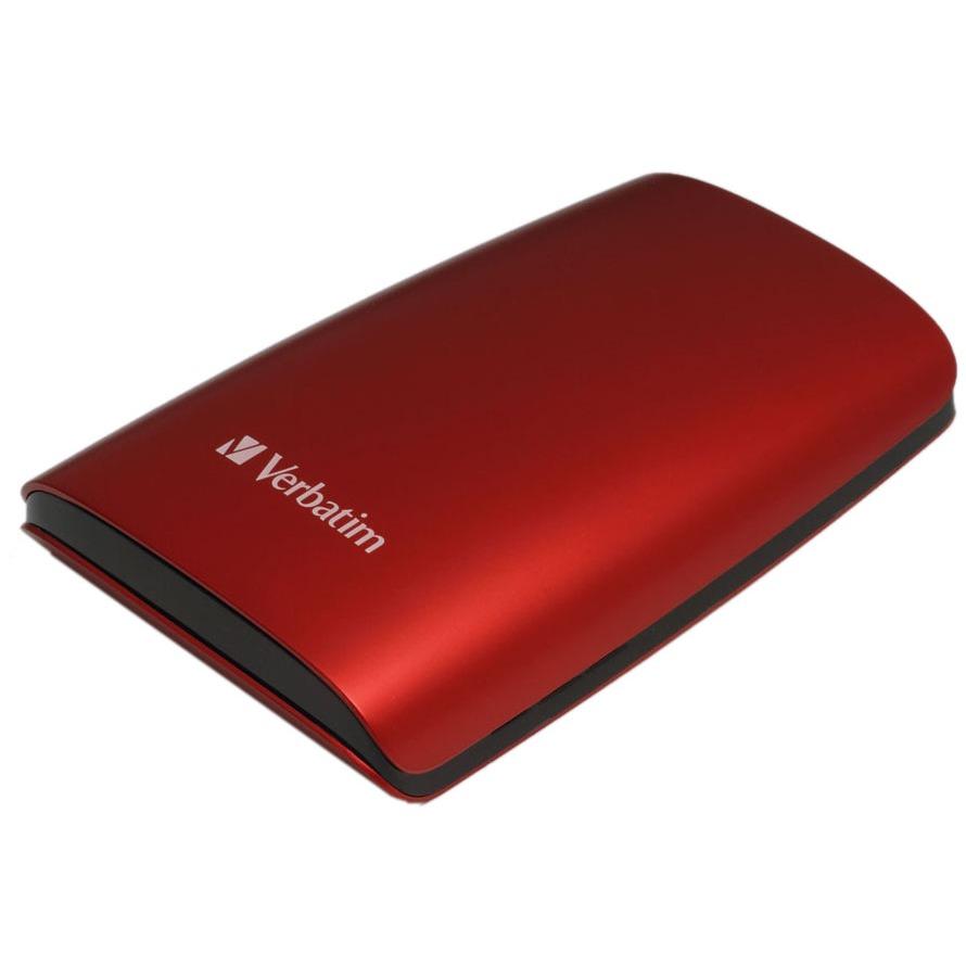"""Disque dur externe Verbatim Disque dur externe 320 Go 2""""1/2 - Rouge (USB 2.0) Verbatim Disque dur externe 320 Go 2""""1/2 - Rouge (USB 2.0)"""