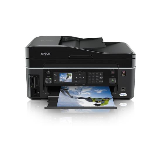 Imprimante multifonction Epson Stylus SX610FW Epson Stylus SX610FW - Imprimante Multifonction jet d'encre couleur 4-en-1 (USB 2.0 / Ethernet / Wi-Fi b/g)