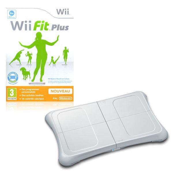 LDLC.com Wii Fit Plus avec Wii Balance Board (Wii) Balance de contrôle + jeu de fitness (compatible Wii)
