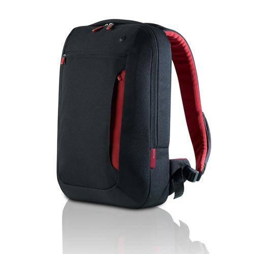 Sac, sacoche, housse Belkin sac à dos pour ordinateur portable (jusqu'à 15.6'') (coloris noir/rouge)