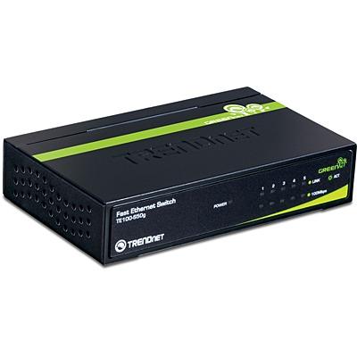 Switch TRENDnet TE100-S50g Mini Switch 5 ports 10/100 Mbps GREENnet (boitier métal)