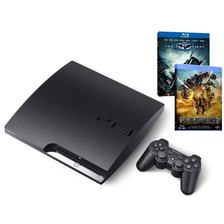 LDLC.com Sony PS3 Slim 250 Go avec Blu-ray The Dark Knight  et Transformers 2 Sony PlayStation 3 Slim 250 Go avec Blu-ray The Dark Knight  et Transformers 2