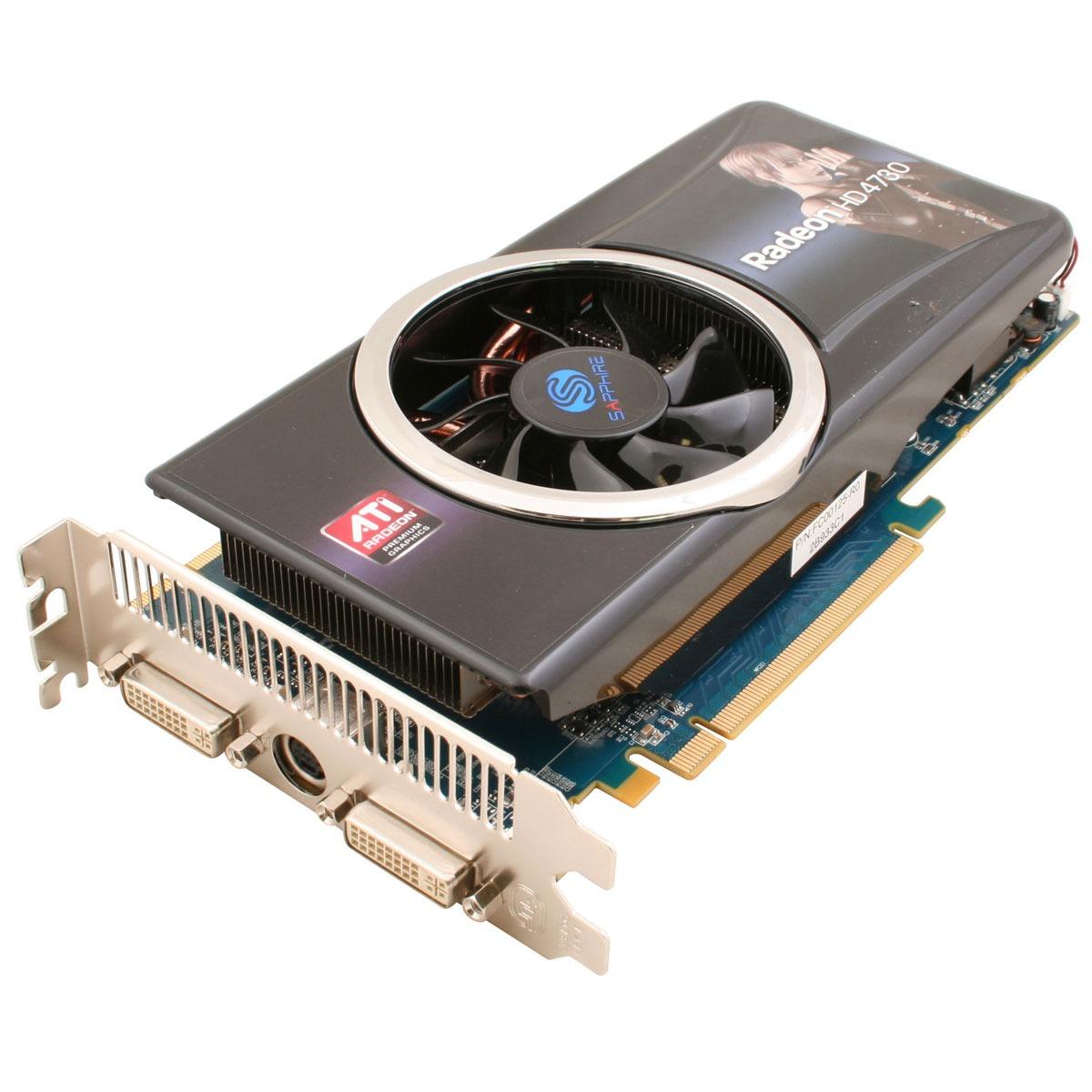 Carte graphique Sapphire Radeon HD 4730 512 MB Sapphire Radeon HD 4730 - 512 Mo TV-Out/Dual DVI - PCI-Express (ATI Radeon HD 4730)