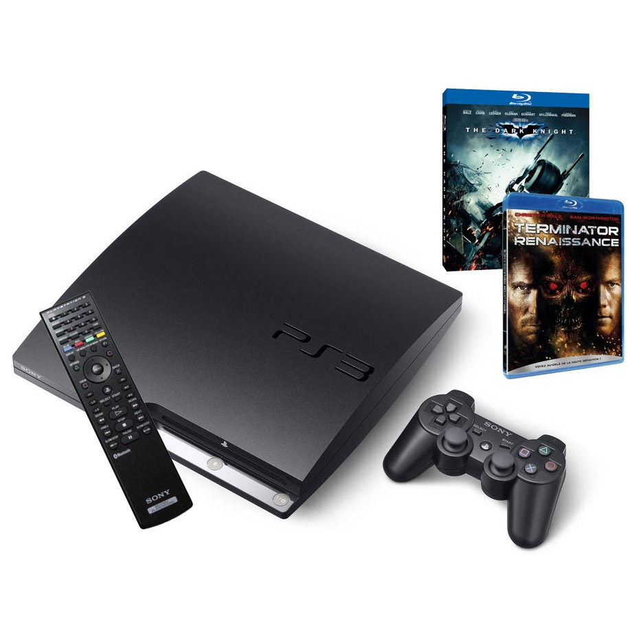 sony playstation 3 slim 250 go avec 2 blu ray t l commande sony offerte sony. Black Bedroom Furniture Sets. Home Design Ideas