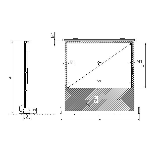Ldlc ecran portable manuel format 4 3 160 x 120 cm for Ecran de projection mural manuel