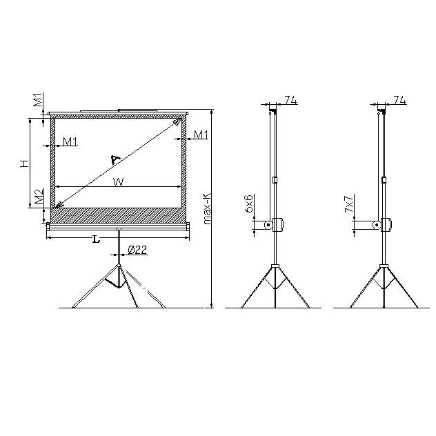 ldlc ecran tr pied format 4 3 220 x 165 cm ecran de. Black Bedroom Furniture Sets. Home Design Ideas