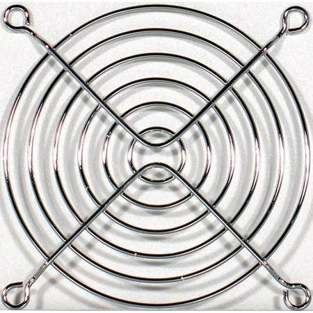 Grille ventilateur PC Grille de protection pour ventilateur 92 mm (coloris argent)
