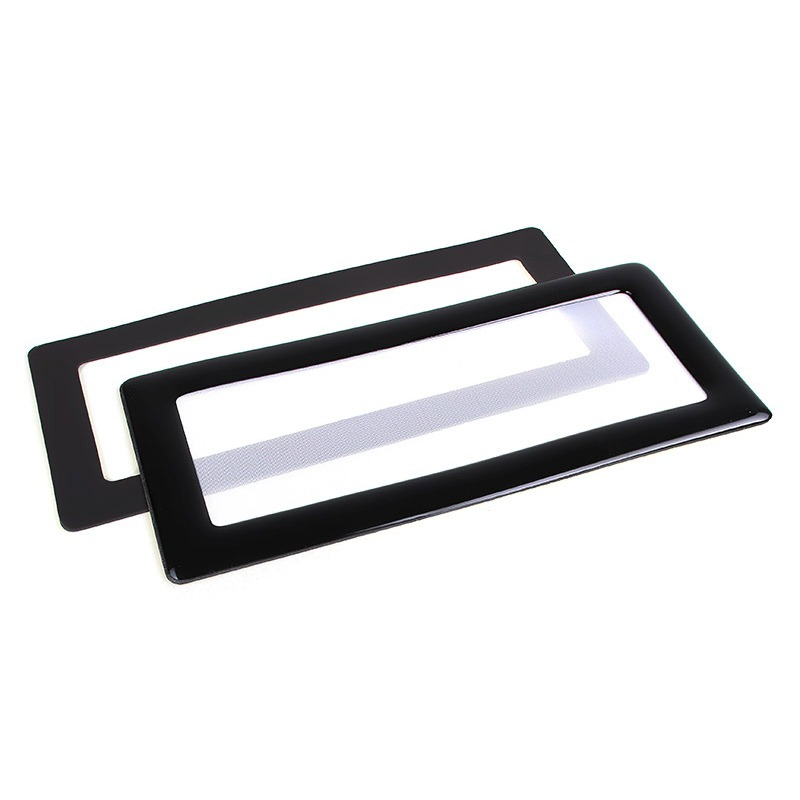 filtre poussi re magn tique rectangulaire 2x 40 mm cadre noir filtre blanc filtre anti. Black Bedroom Furniture Sets. Home Design Ideas