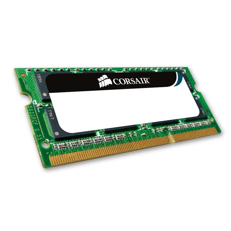 Mémoire PC portable Corsair Value Select SO-DIMM 2 Go DDR3 1333 MHz RAM SO-DIMM DDR3 PC10600 – CMSO2GX3M1A1333C9 (garantie 10 ans par Corsair)