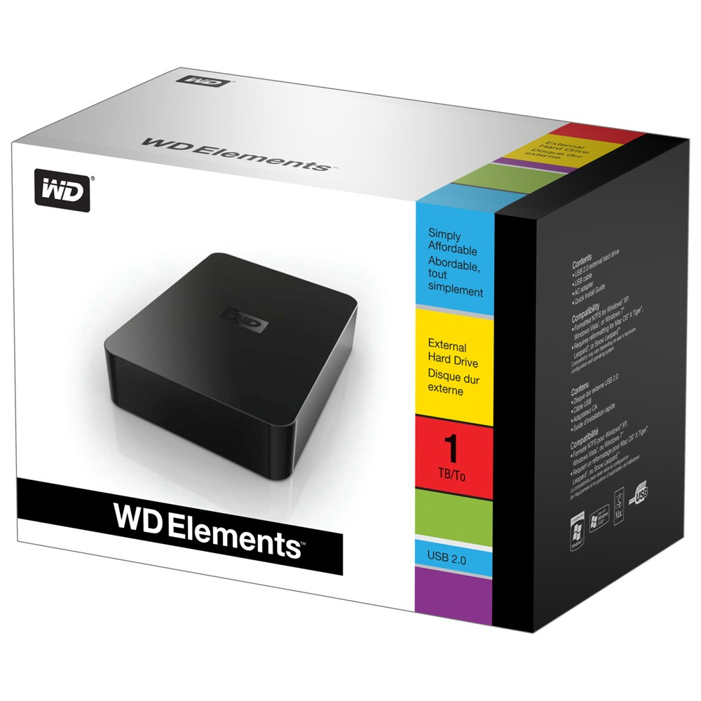 western digital wd elements desktop 3 to usb 2 0. Black Bedroom Furniture Sets. Home Design Ideas