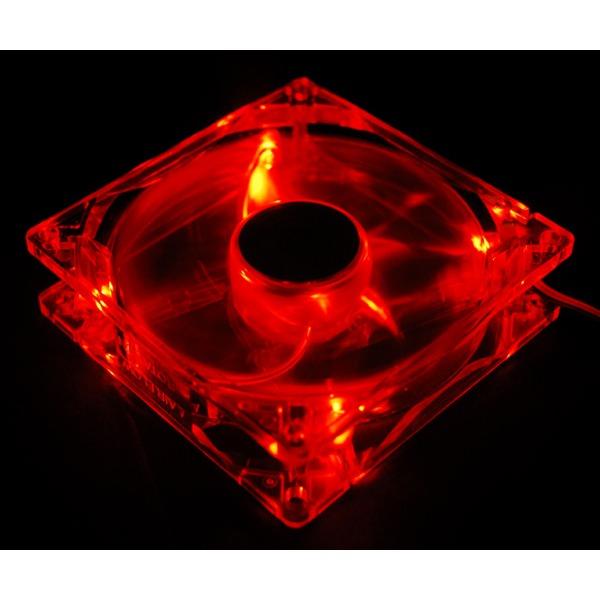 Ventilateur boîtier Zalman ZM-F2 LED Red Ventilateur 92 mm LED Rouge