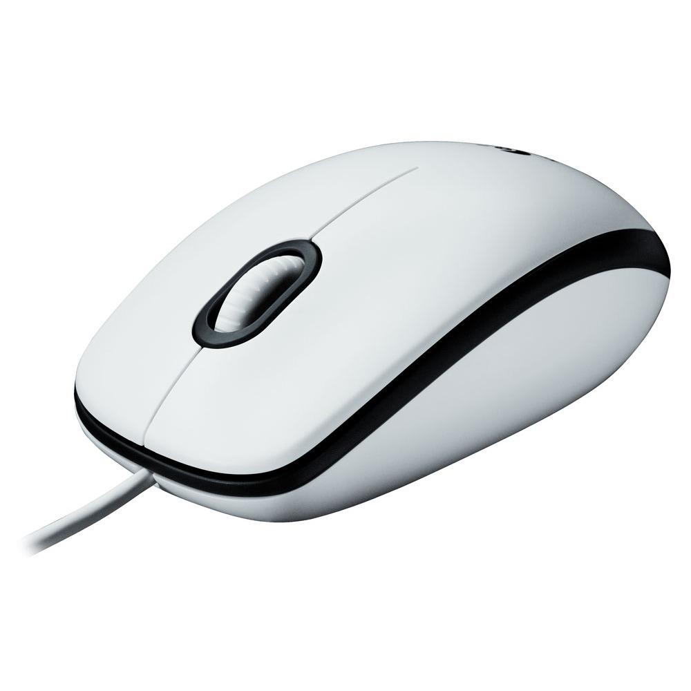 Souris PC Logitech Mouse M100 Blanc Souris filaire - ambidextre - capteur optique 1000 dpi - 3 boutons